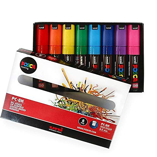 POSCA-Mallette Coloriage-PC- 8 k Essential Lot de 8 couleurs dans boîte cadeau