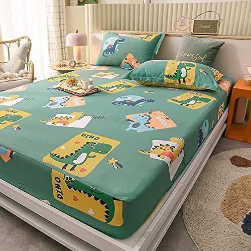 XLMHZP Funda de colchón de sábana Ajustable sólida,con sábana de Banda de Goma elástica en Todos los Lados,Adecuada para Camas Individuales y Dobles,tamaño King y Queen-Cream Color_220x200cmx25(1PCS)