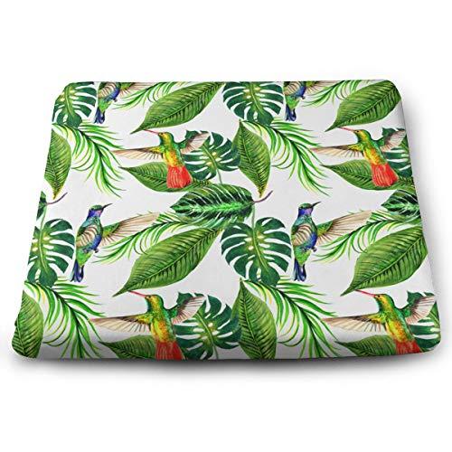 Funny Z Cojín de Asiento de Silla de Palma Tropical Hawaii Alivia la Presión de Los Músculos de Los Glúteos Almohadillas de Espuma de Elasticidad para El Hogar de la Oficina