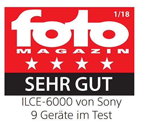 Sony Alpha 6000 Systemkamera (24 Megapixel, 7,6 cm (3 Zoll) LCD-Display, Exmor APS-C Sensor, Full-HD, High Speed Hybrid AF) graphit-grau
