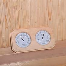 HSTFⓇ Termómetro de Sauna de Madera higrómetro, Accesorios de Sauna 255 * 135 * 30 mm, Monitor de Humedad de Temperatura Ambiente preciso, fácil de Leer