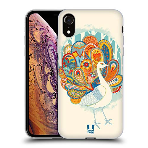 Head Case Designs Mandarina Pavo Real de Cachemira Carcasa de Gel de Silicona Compatible con Apple iPhone XR