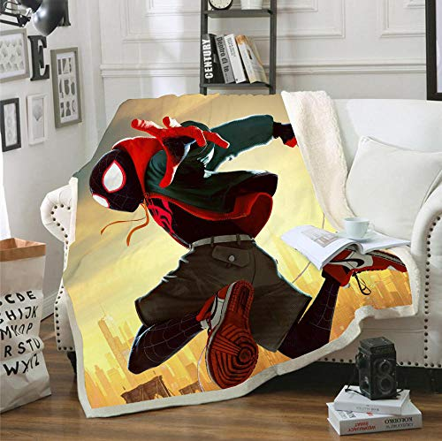 HYQDD Flannel Blanket 3D Comic Spider Boy0-150x200cm Blanket for Kids Child Adults Soft Plush Bedding Sofa Couch Throw Blanket Cozy Home Decor Blankets Office Blanket Nap Blanket
