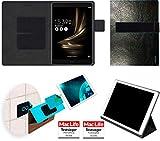 reboon Hülle für Asus Zenpad 3S 10 Z500KL Tasche Cover Case Bumper | in Schwarz Leder | Testsieger