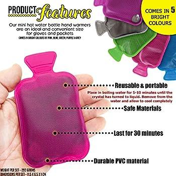 BRAMBLE 5 Mini Chauffe-Mains, Bouillottes Chaufferettes de Poche - Réutilisable & Portable