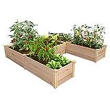 Greenes Fence Premium Cedar Raised Garden Bed 8 ft. x 8 ft. x 16.5 in. U-Shaped Bed
