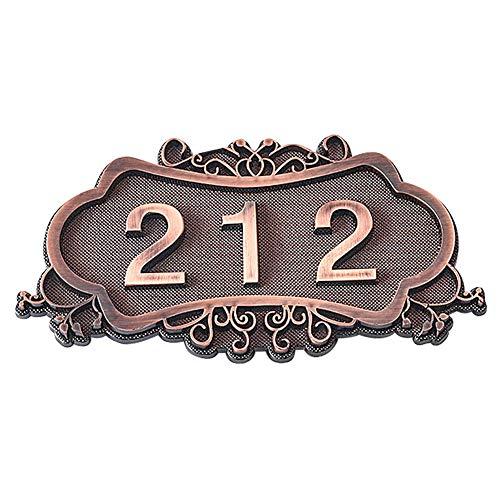 Hausnummer Benutzerdefiniertes Haustürschild Hausschild Bronze Türnummer Wandaufkleberes Hausnummernschild Nach Wunsch Wandschilder Retro Zimmernummer Türschilder für Haustür Gatren Hotel Tür