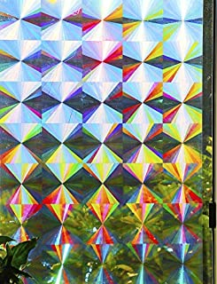 Decorative Window Film Holographic Prismatic Etched Glass Effect - Fill Your House with Rainbow Light 24