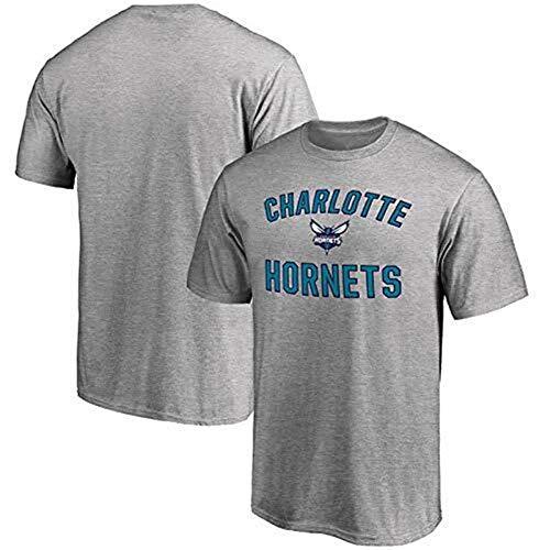 ZSPSHOP Charlotte Hornets City Edition Walker Howard - Camiseta de manga corta para hombre, cuello redondo, estampado animal, informal, holgada, deportiva, talla M, color gris
