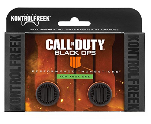 KontrolFreek Call of Duty: Black Ops 4 Manette pour Xbox One | Joysticks de Performance | 2 Taille Haute | Noir/Orange