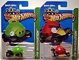 2012 Hot Wheels Hw Imagination Angry Birds Set of 2 Minion Pig & Red Bird VHTF!