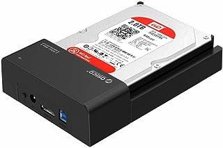 ORICO Base de conexion Disco Duro con 24W Adaptador de Corriente, USB 3.0 a e-SATA Docking Station para 2.5 y 3.5 Pulgadas E-SATA HDD/SSD (hasta 10TB, LED Indicador,Sin Herramientas)