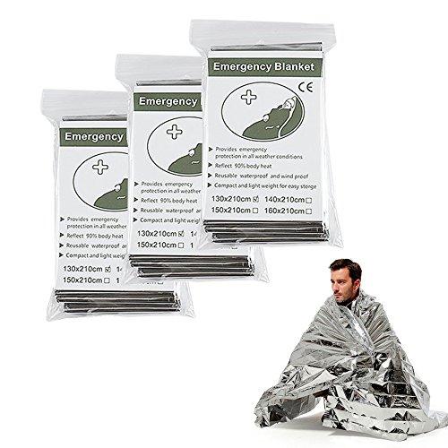 10pcs thermique urgence Premium Foil Blanket First Aid Imperméable Survie