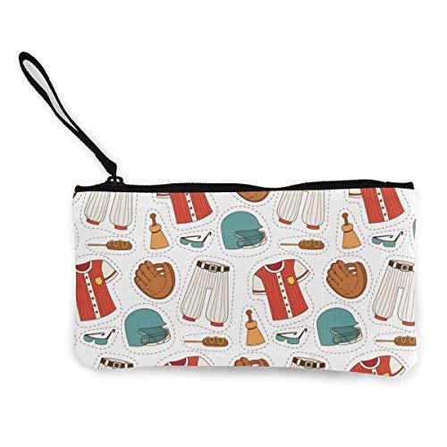 Hdadwy Baseball-Anzug Leinwand Reißverschluss Geldbörse, personalisierte Dame Make-up-Tasche, Handtasche, Koffer Damen Zubehör