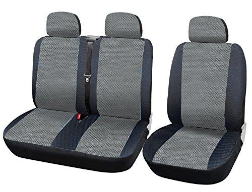WOLTU AS7333 Auto Sitzbezüge universal Größe, 1+2 Sitzbezug Schonbezüge aus Polyester aus Polyester schwarz grau