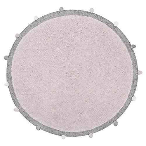 Lorena Canals Abgerundete sprudelnd waschbar Teppich, Baumwolle, Soft Pink, 120x 120x 30cm