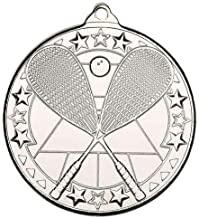 Lapal Dimension Tafeltennis 'Tri Star' medaille - Zilver - 2in