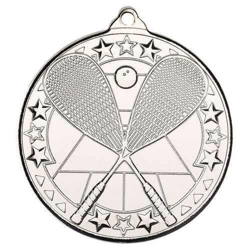 Lapal Dimension Medalla de Ping Pong, diseño de Estrella Tri, Color Plateado, 2 Pulgadas, 10 Unidades