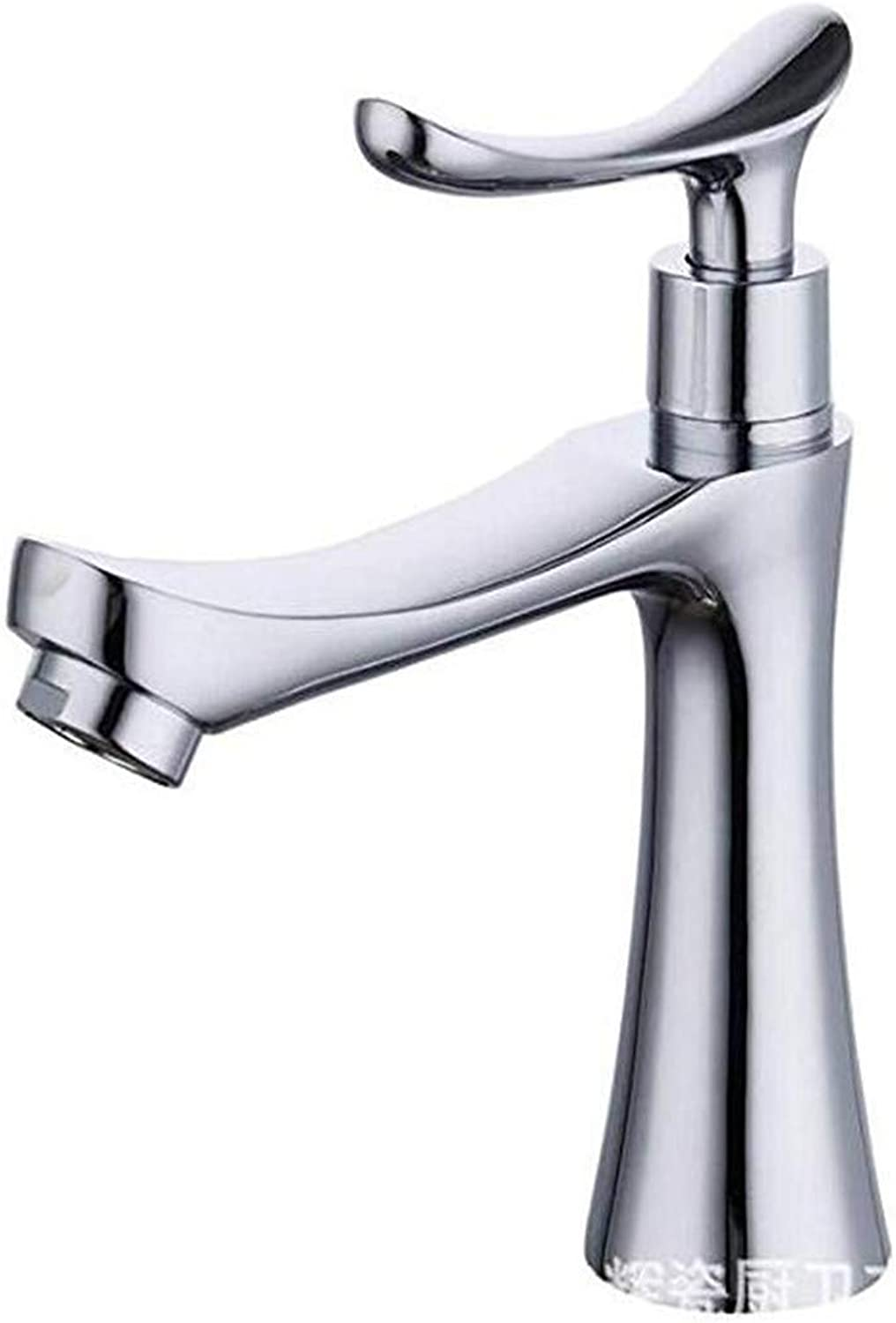 Taps Kitchen Faucetbathroom Sink Tapbathroom Basin Faucet Single Hole Alloy Single Cooling Faucet Chrome Plated Sink Faucet