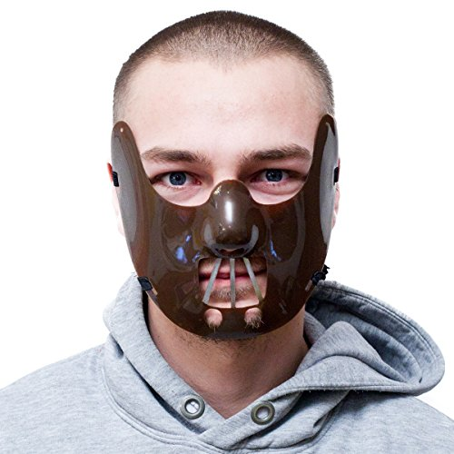 Goods & Gadgets Psychopathen Beißer Horror Maske im Stil von Hannibal Lecter