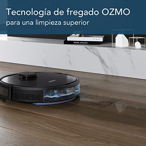 Ecovacs DEEBOT 950 Robot con Tecnología Ozmo y Smart Navi 3.0, 200 min + Turbo, 66 Decibeles, Negro