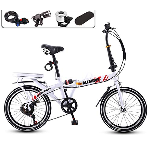 Buy XYSQ Foldable Bicycles for Adults,Bicycle High Carbon Steel Frame with High Elastic Shock Abso...