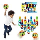Set da bowling gonfiabile gigante per bambini e adulti Set da gioco di bowling per giochi al coperto o all'aperto per la famiglia 8 bowling 2 palla da bowling