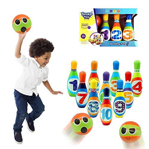 Aufblasbares Riesen-Bowling-Set für Kinder und Erwachsene Bowling-Spiel-Set für drinnen oder draußen Spiele für Familien 8 Bowling Pins 2 Bowling Ball