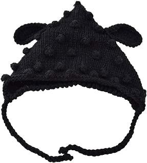 Snowlike Children's Headgear Solid Color Knit Hat Autumn and Winter Wool Hat Vintage Warm Earmuffs Hat Cute Cotton Cap