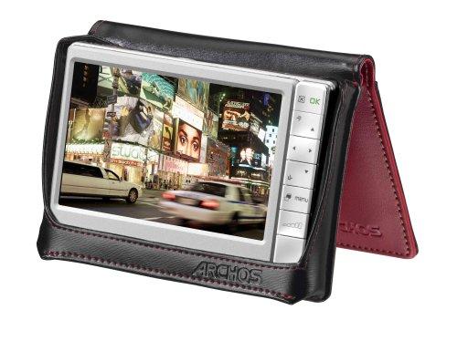 Archos Stand Case Red - 80GB/160GB - Zubehörtaschen (Rot, Leder, ARCHOS 605 80GB / 160GB)