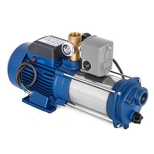 Bisujerro 2200 W centrifugaalpomp 160 l/min elektrische waterpomp centrifugaalpomp voor huis, tuin, con interruptor, 1