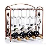 LZC Tenedor De Vino De Vino Multifunción Titular De Vino De Vino Metal Mueble De Vino Muebles para El Hogar Mesa De Comedor Tablero De Barras Tarificaciones Pantrejas Friendges Ultra Modern Wine Rack
