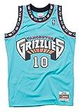 Mitchell & Ness Vancouver Grizzlies Mike Bibby 1998 Road Swingman Jersey, XL, Color verde azulado.