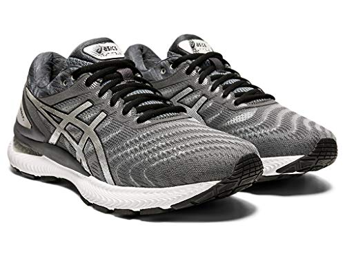 ASICS Men's Gel-Nimbus 22 Platinum Running Shoes, 8M, Carrier Grey/Pure Silver