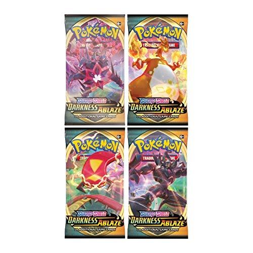 Pokémon Sword & Shield Darkness Ablaze 4X Booster Packet (4 Packs Supplied)