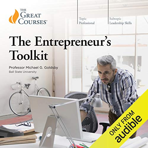 The Entrepreneur's Toolkit                   Written by:                                                                                                                                 Michael Goldsby,                                                                                        The Great Courses                               Narrated by:                                                                                                                                 Michael Goldsby                      Length: 12 hrs and 39 mins     19 ratings     Overall 4.5