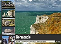 Normandie - Raue Kueste und malerische Hafenstaedte (Wandkalender 2022 DIN A3 quer): Fotoreise entlang der normannischen Kueste (Monatskalender, 14 Seiten )
