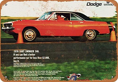 Iron Painting Signs Home Decor 8 X 12 Metal Sign 1970 Dodge Dart Swinger 340 Vintage Look