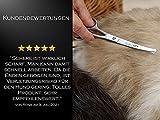 Hundehaarschere Fellschere GEBOGEN mit MIKROVERZAHNUNG - 5