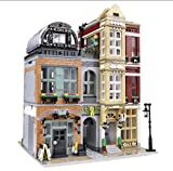 General Jim's MOC Architectural Building Blocks Shoe Store City Creator Building Blocks Brick Set DIY