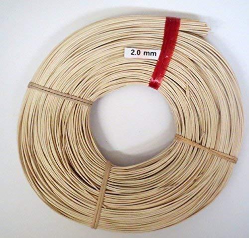 Schardt Peddigrohr - Flechtmaterial Natur 2.0 mm 500 Gramm zum Körbe flechten, basteln - Rattan Peddigrohr in verschiedenen Größen und Stärken