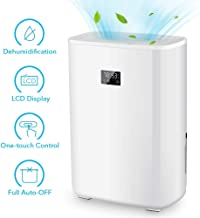 Air Choice Electric Dehumidifier - 5.0 Pint Portable Dehumidifier up to 2200 Cubic Ft. LCD Display Safe Dehumidifier for Bedroom, Bathroom, Basement, RV & Office