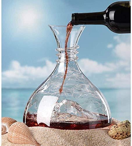 Decanter Ice Cube Rotwein, bleifreiem Kristall Fast Red Wine Karaffe, Fast Sake-Fass, Wein-Geschenk, Weinzubehör, Rotwein Glasflasche Separator, 1.8L Xuan - wert, yqaae