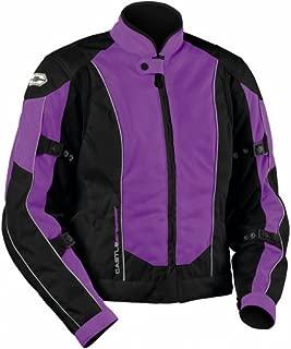 Castle Streetwear Womens Turbine Motorcycle Jacket - Grape - Size 10