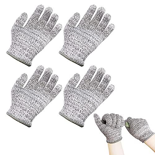 Quazilli 2Paare Schnittfeste Handschuhe Kinder-Schnittschutzhandschuhe Kettensäge-Schutzhandschuhe Schnittschutz-Schnittfeste Handschuhe Küche-Arbeitshandschuhe Kinder