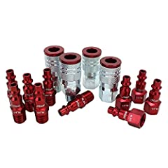 M-STYLE: Milton M-style, ColorFit M-style, + red competitor couplers/plugs are all compatible! DURABLE: Scratch-resistant steel design in an anodized coating for optimal wear vs. aluminum sleeves EASY MATCH: Use color to distinguish between air lines...