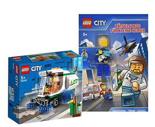Collectix Lego City Set: 60249 - Barredora de calle + juego de accesorios para pequeños ayudantes (en alemán), a partir de 5 años
