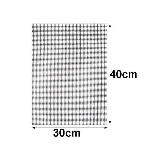 Preisvergleich Produktbild NOLOGO Ashy-WLj Antihaft-Grill Grillen Mats High Security Grid-Form BBQ-Matte mit Hitzebeständigkeit 30x40x0.2cm for Außen (Farbe : Brown 30x40cm)