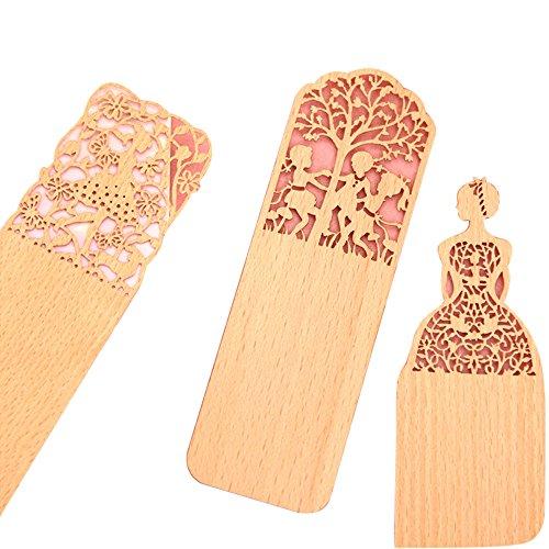 Segnalibro in materiale legno sottile elegante taglia con laser Ideale regalo (F-3)