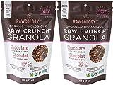 Rawcology   2 pack Granola croccante al cioccolato biologico   Senza zuccheri aggiunti, senza glutine, chetogenico, paleo, raw